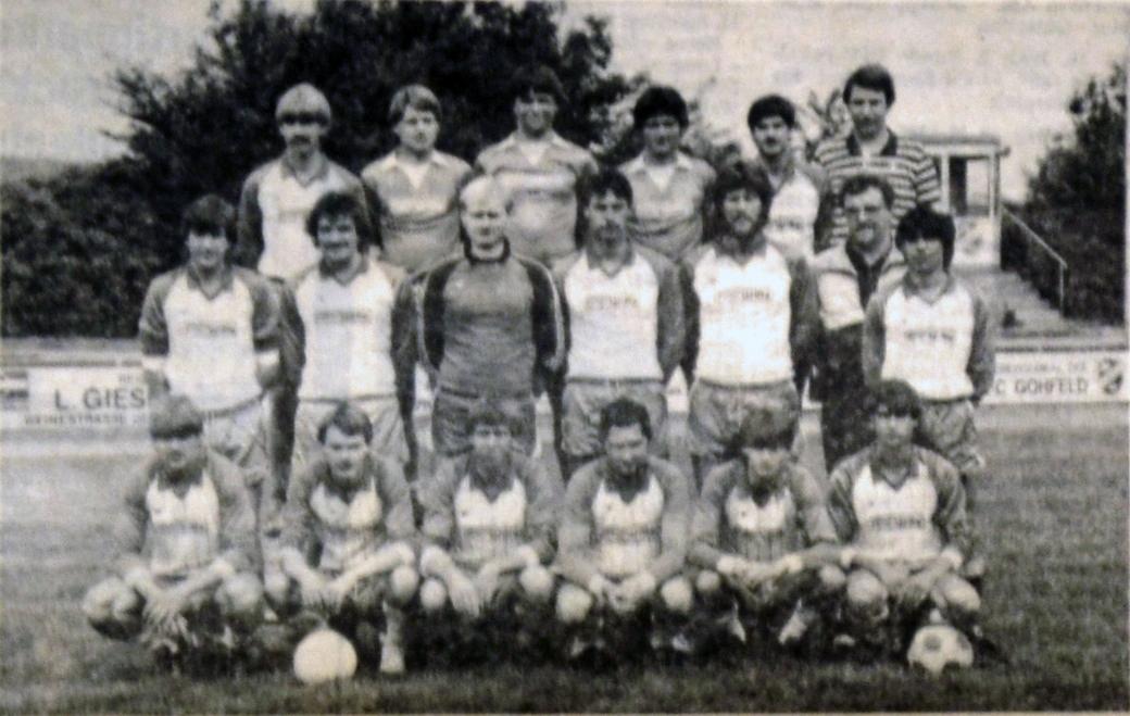 Unter Trainer Wolfgang Klocke gelang der Reserve der Aufstieg in die Kreisliga A. (Sommer 1983)