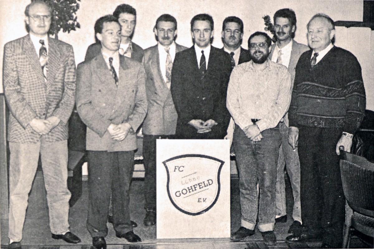 Erste Vorstellung des Vorstands des neuen FC Löhne-Gohfeld. (März 1992)