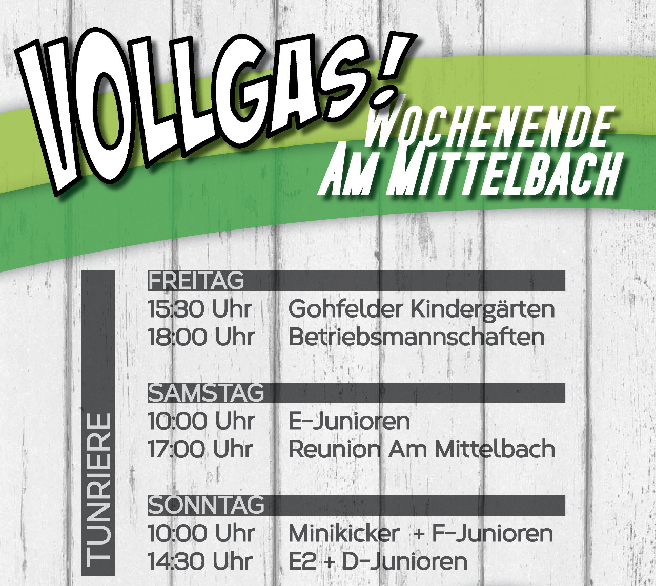 Vollgas-Wochenende Am Mittelbach