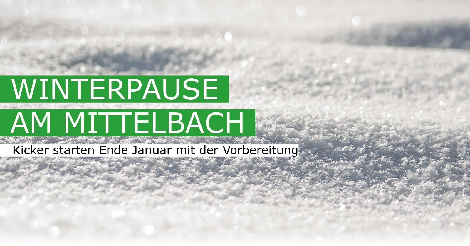 Winterpause Saison 2019/20
