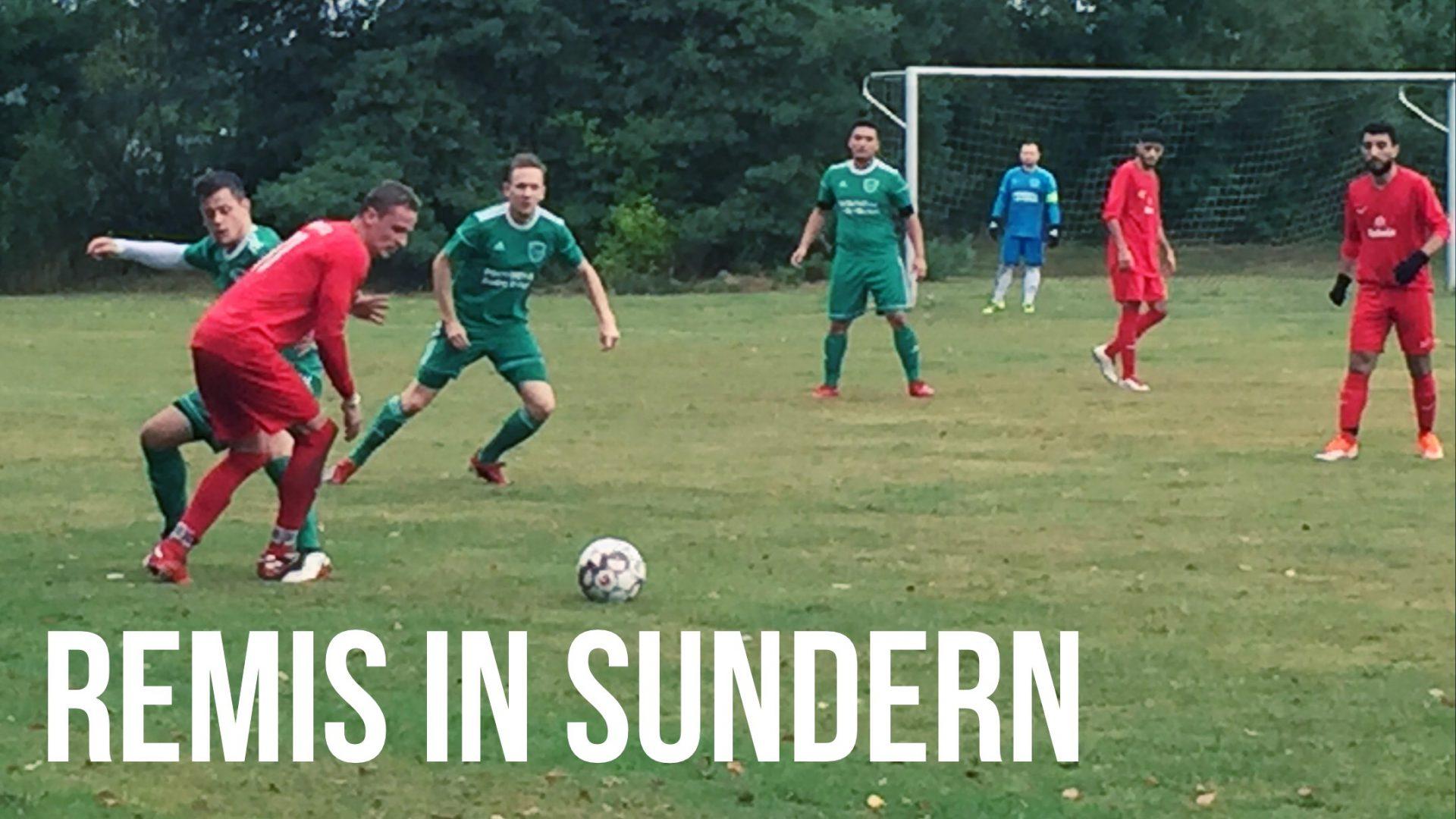 Spielszene vom Auswärtsspiel der ersten Mannschaft gegen den SV Sundern am 18.08.2019
